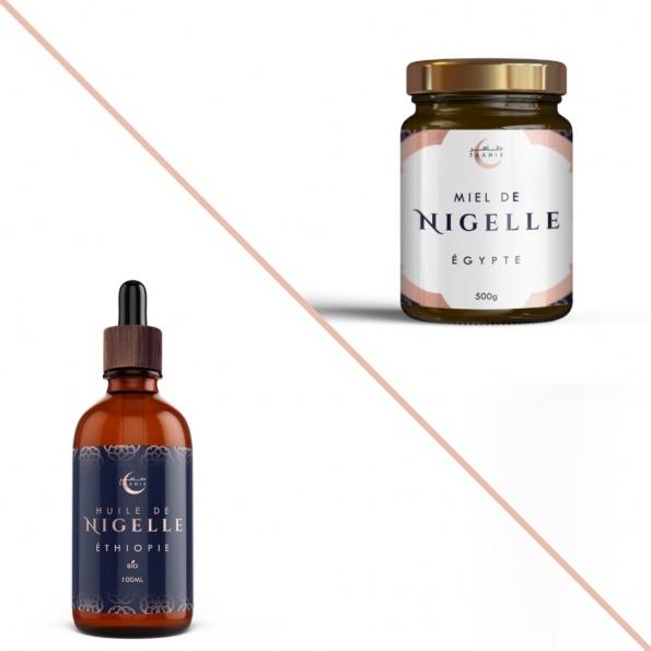 Le pack cure de nigelle est un pack permettant d'obtenir de l'huile de nigelle et du miel de nigelle en profitant d'une réduction