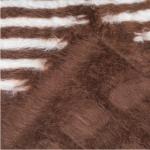 tapis peau de mouton brun